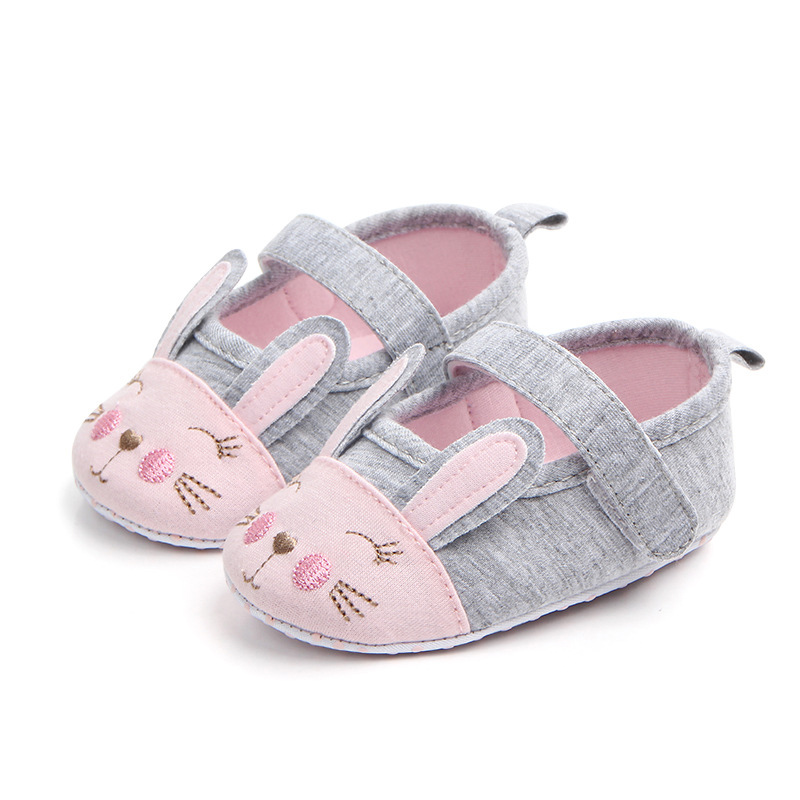 Cotton Baby Girl Shoes Newborn Infant Cartoon Cat Soft Sole Prewalker Casual Baby Shoes Crib Shoes First Walkers