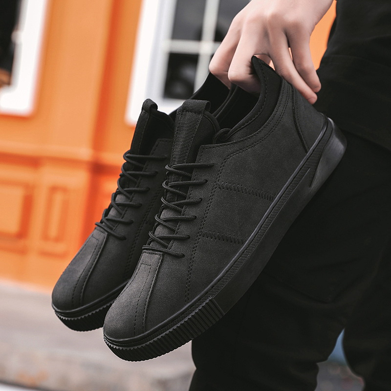 Male Designer Leather Men Shoes Fashion High Quality Trainers Chunky Brand Casual Sneakers 2019 New Mens Loafers Leather Shoes