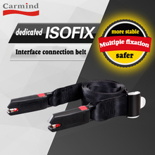 isofix connection belt carmind child car seat universal latch lower anchor point fixing