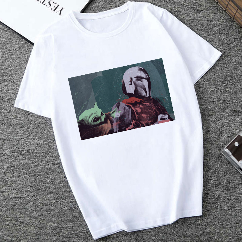 Showtly 2019 Star Wars TV Series T Shirt Mandalorian Baby Yoda Sweatshirt Men/Women Star  90S Science Fiction Movies Tee Tops