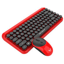 35 @ Keyboard Mouse Set K800 2-In-1 2.4G Hz Gaya Retro 84 Kunci Wireless Keyboard Mouse combo Gaming Keyboard Teclado Mecanico(China)