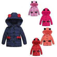 Infant Girls Autumn Winter Minnie Jacket Baby Fleece Coat Clothes Children Kids Parka Warm Wool Outerwear Clothing Bow Costume