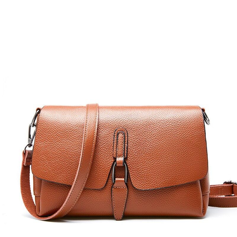 Luxe femmes devrait sac femme noir petits sacs à main femme 2019 mode Crossbody sacs pour femmes dames sacs à main en cuir véritable - 4