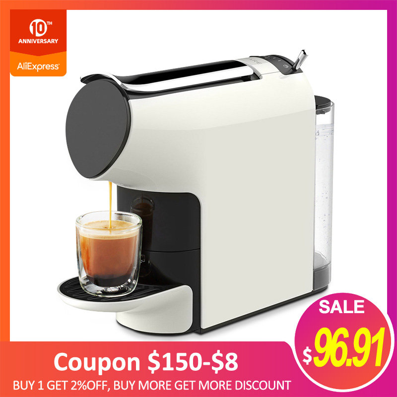 Genuine MIJIA 580ml SCISHARE Smart Coffee Machine 9 Level Concentration Capsule Espresso Compatible For Household Office