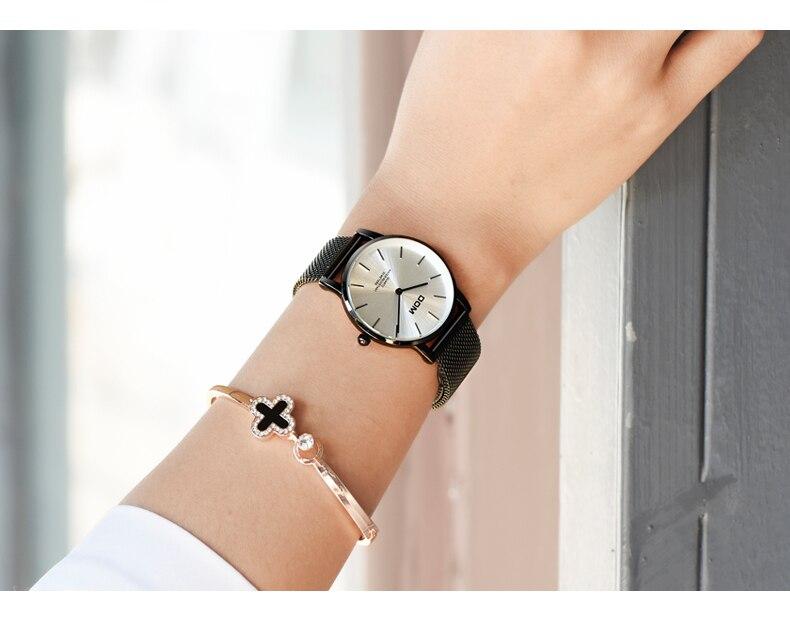 Dom relógios relógio de moda feminina 2018