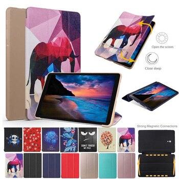 Funda para Samsung Galaxy Tab A A2 10,5 pulgadas T590 T595 T597 SM-T590, funda inteligente de piel pintada, funda con tapa, funda protectora para Tablet