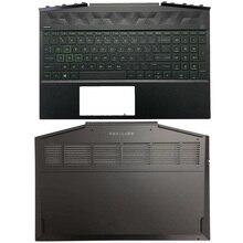 Laptop Palmrest Backlit keyboard/Bottom Case For HP Pavilion 15-DK Series Silver Green Purple L57593-001 AP2K8000320 AP2K8000300