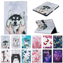 Funda dla iPad Pro 10.5 Case słodki kociak jednorożec Puppy Butterfly kwiat Tablet pokrywa etui do ipada Air 3/iPad 10.5 Case Coque + prezent(China)