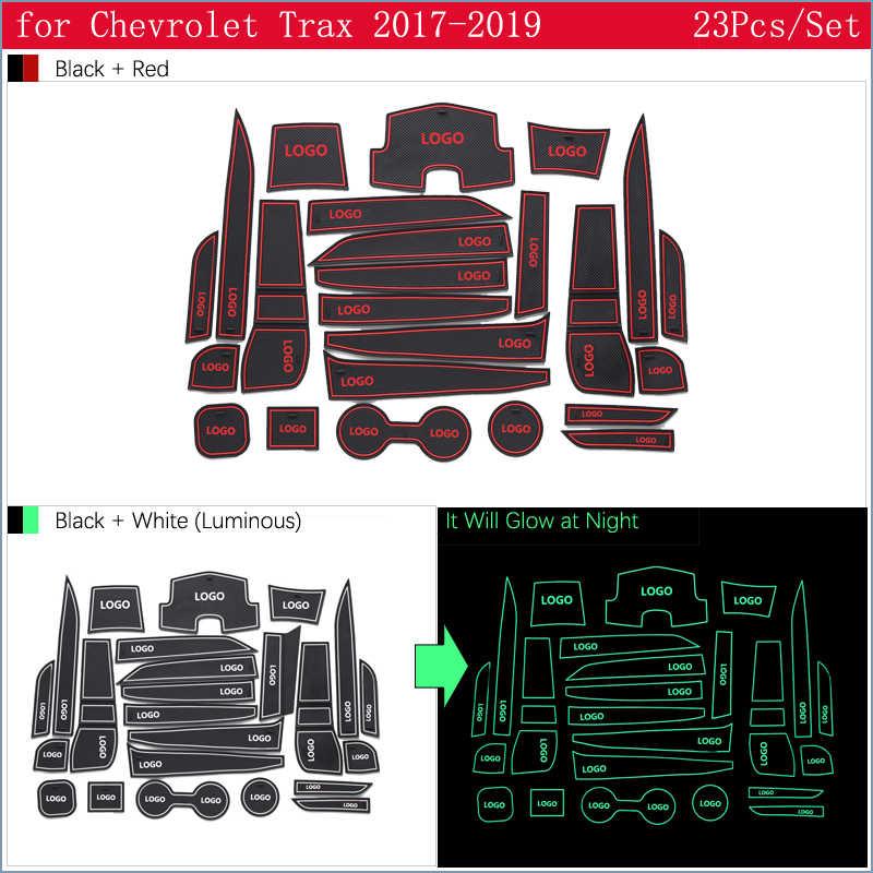 Per Chevrolet Trax Tracker Holden 2017 2018 2019 MY17 MY18 MY19 Anti-Slip Gomma Cancello Slot di Tazza di Zerbino Accessori adesivi per auto