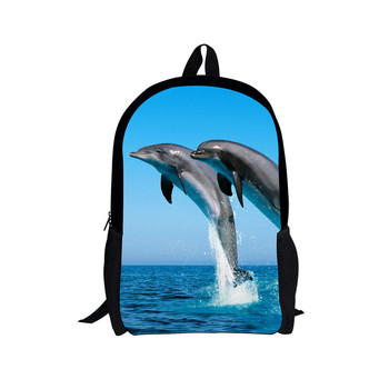 New 3D Dolphin pattern Custom Pattern Men Women Backpacks Schoolbag  Kids Backpack Children School Bags Girls Boys Backpacks new pattern national geographic ng a5290 camera bag backpacks video photo bags for camera backpacks bags