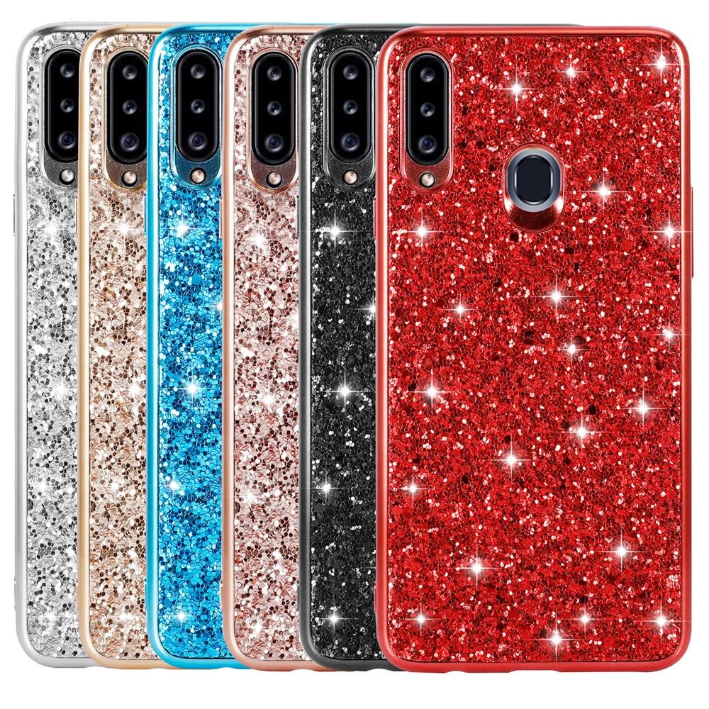 Case For Samsung Galaxy A20e A20 E Case For Samsung Galaxy A30 Case Bling Glitter Cover For Samsung A20S A51 A71 A81 A91 S20