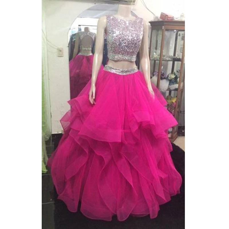 Ярко розовая Женская длинная юбка бальное платье с лошадиной кромкой длиной до пола Выпускные юбки для свадебной вечеринки с оборками мног...