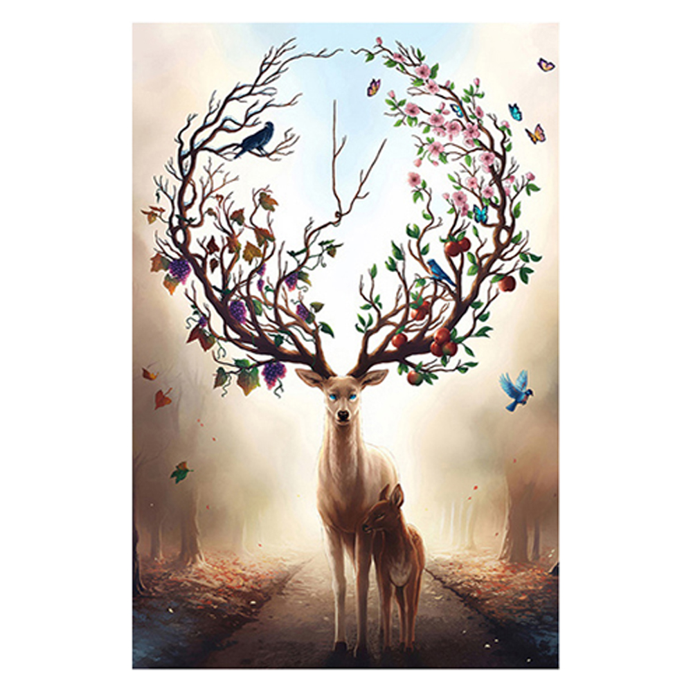 1000pcs/set Deer Animals Paper Jigsaw Educational Toys For Kids Intelligence Development Early Learning Childhood Gifts Indoor