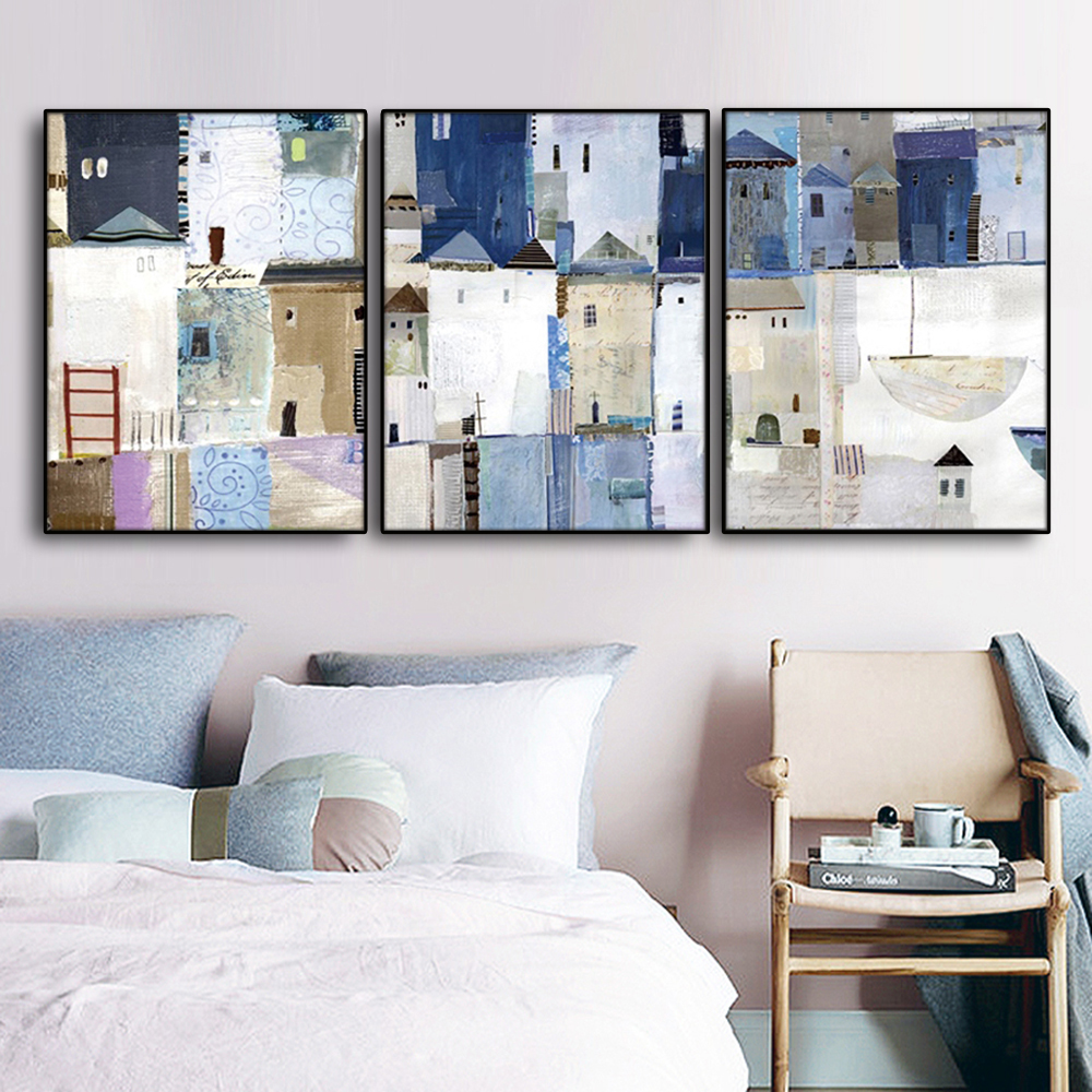 Best Deal #c35fc - Blue Abstract Wall Pictures Poster Print ...