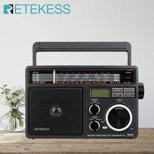 RETEKESS-Radio portátil TR618, receptor de Radio FM, AM, SW, con reproductor de MP3 Digital, altavoz grande de gran volumen y mango para garaje de casa