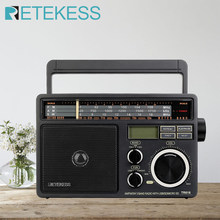 Retekess TR618 AM FM SW Portable Analog Radio with Digital MP3 Player Loud Volume Big Speaker Ideal for Home and Elderly