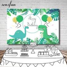 Sensfun Cartoon Dinosaurus Party Achtergrond Kinderen Verjaardagsfeestje Jongens Achtergronden Voor Fotostudio Custom Vinyl Polyester