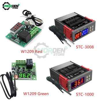 STC-1000 STC-3008 W1209 LED Digital Temperature Controller Thermostat 10A Heating Cooling STC 1000 12V 24V 220V image