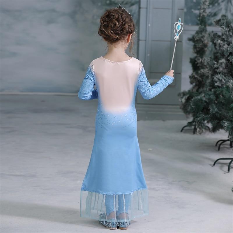 Hb7a93c2cf9a24e668f37a4d1b1e8c8425 2019 Elsa Dresses For Girls Princess Anna Elsa Costumes Party Cosplay Elza Vestidos Hair Accessory Set Children Girls Clothing