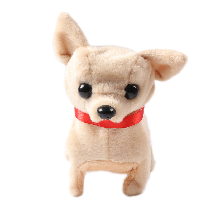 Hot Selling Electric Soft Plush Robot Dog Husky Toys Can Bark Walking Forward And Backward Simulation Toys For Children Gifts