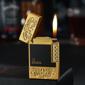 Creative Carved Butane Gas Metal Lighter Cigarette Open Flame Torich Inflatable  Lighter  Accessories Gadget for Men недорого