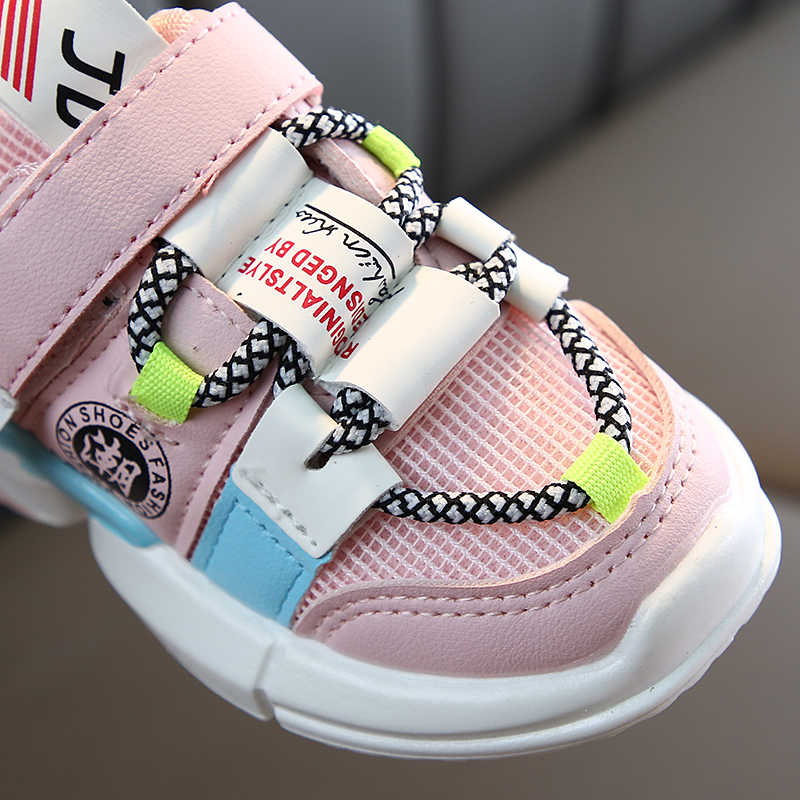 Sonbahar yeni gelenler kızlar ayakkabı ayakkabı bebek yürümeye başlayan ayakkabı ayakkabı boyutu 21-30 moda nefes bebek spor ayakkabı