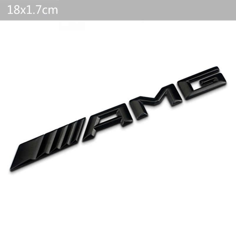 3D Metal araba Sticker AMG gösterisi araba logosu rozeti çıkartması için geçerli yeni Mercedes C sınıfı E sınıfı S sınıf C63 modifikasyonu
