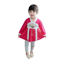 New Autumn Baby Girls Clothes Set Embroidery Pattern Long Sleeve T-shirt Blouse Trousers Casual Outfits blouse 1207041 13