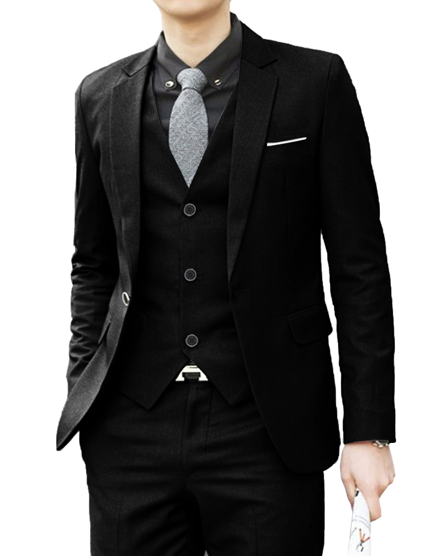 Casual Slim Fit Men's Suit Three 3 Piece Wedding Tuxedo Party Dresses Suit Groomsmen Blazers Formal Business Jacket Set