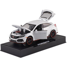 Ant Toy car1:32 Diecast Cars Model Alloy car model red label Honda Civic boy toy gift  Toys For Children