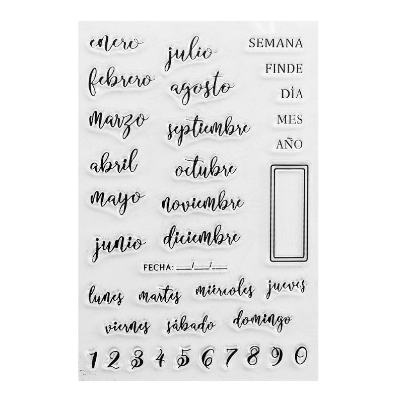 Spanish Dates Silicone Clear Seal Stamp DIY Scrapbooking Embossing Photo Album Decorative Paper Card Craft Art Handmade Gift