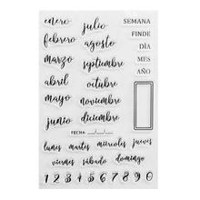 Espanhol datas silicone selo claro diy scrapbooking gravando álbum de fotos decorativo cartão de papel artesanato arte artesanal presente