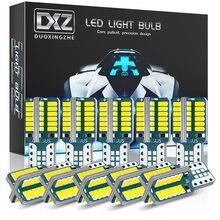 Dxz 10 pces w5w t10 lâmpada led 48-smd canbus 168 194 6000k 12v branco interior do carro dome mapa luzes de folga luz erro livre