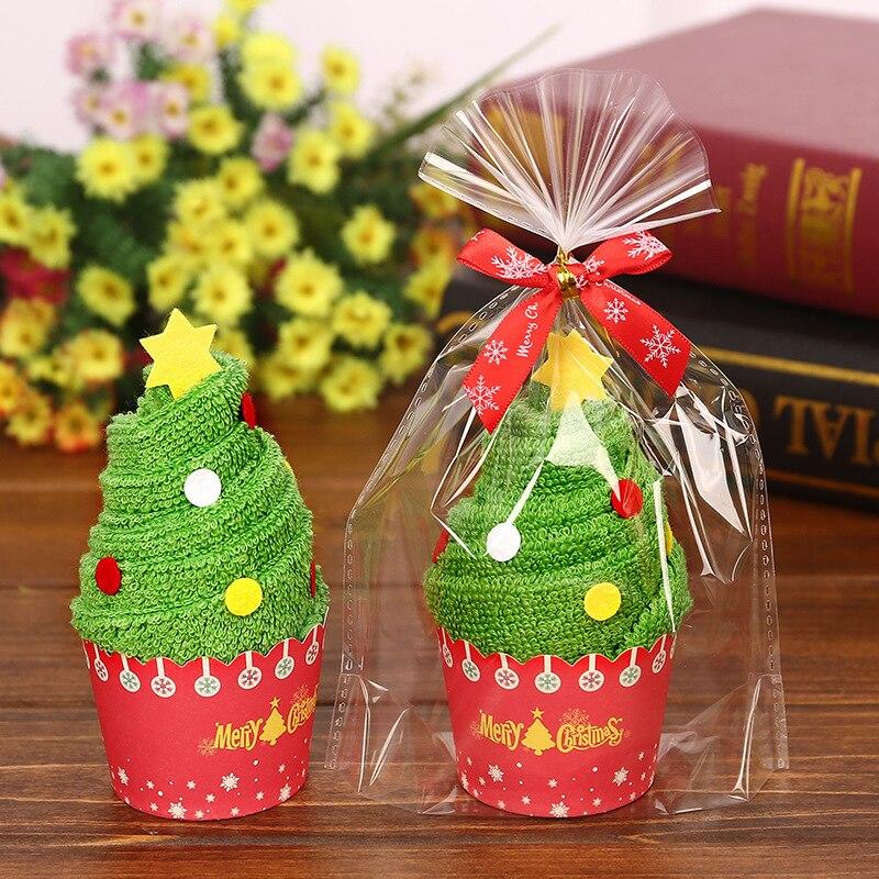 Рождественское Хлопковое полотенце в форме торта креативный подарок Санта-Клаус Снеговик Рождественская елка отель семейная комната праз...