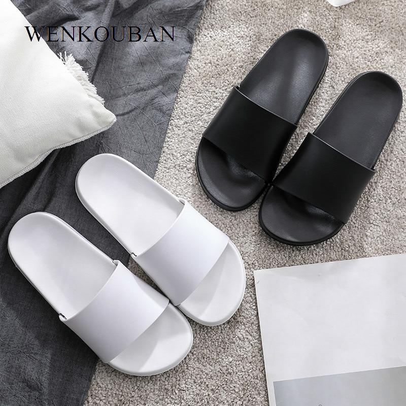 Women Slippers Fashion Summer Shoes Casual Slip On Unisex Black Slides Ladies Flip Flops Female Indoor Shoes Pantoufle Femme