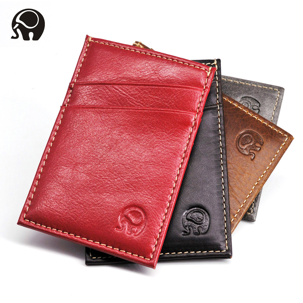 2020 Hot New Fashion Women Men Light High Quality Leather Slim Credit Card Holder Mini Wallet ID Case Purse Bag Pouch