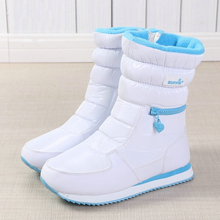 купить Winter Boots Women Ladys Warm Shoes Snow Boot Inside Mixed Natural Wool Solid Color White Buffie 2019 Nice Looking Free Shipping дешево