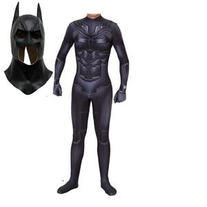Image 1 - Disfraz de Batman The Dark Knight Rises, traje de Cosplay de Halloween con estampado 3D de cuerpo completo de Batman, Bruce
