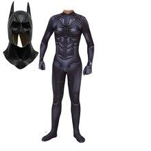 Karanlık şövalye yükseliyor Batman kostüm 3D baskı tam vücut Batman Bruce Wayne cadılar bayramı Cosplay takım elbise