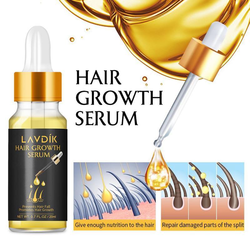 Сыворотка для быстрого роста волос LAVDIK имбирь эфирное масло против потери волос жидкость для восстановления поврежденных волос Прямая пос...