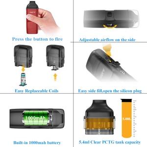 Image 4 - מתנה Aspire רוח NXT Vape ערכת 5.4ml Pod טנק מרסס 0.8ohm רשת סליל מובנה 1000mah סוללה Vaper אלקטרוני סיגריות ערכה