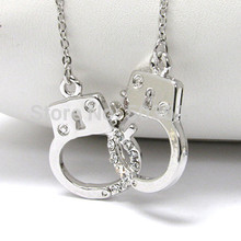Tops 2014!!12Pieces Fashion Plantium Plated 3.5MM Handcuff Women's Jewelry Rhinestone Necklace xy111 Free Shipping!