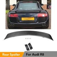 탄소 섬유/FRP 뒷 트렁크 부츠 립 윙 스포일러 for Audi R8 GT V8 V10 2008 - 2015 Auto Tail Lip Wing Spoiler