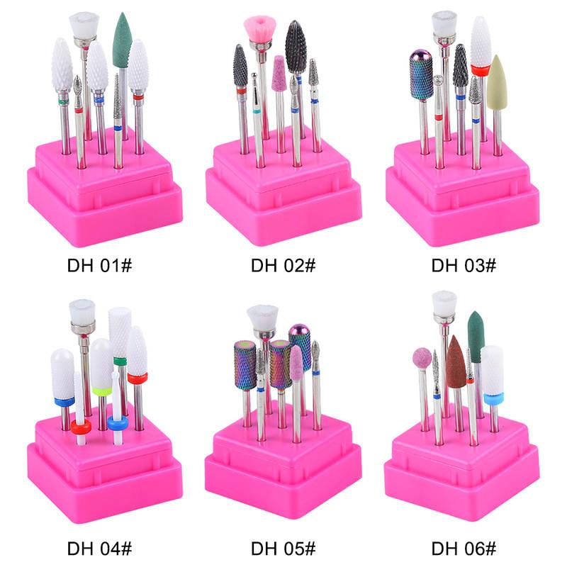 Cutters-Set Drill-Bits-Kit Removing-Gel Polishing-Tools Manicure Ceramic Nail Milling