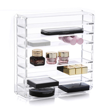 Transparent Acrylic Makeup Organizer Lipsticks Brush Holder Power Box Beauty  Sponge Case Brushes