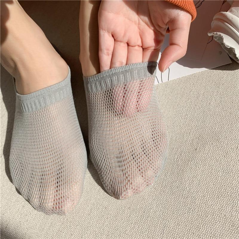 Socks Slippers 2020 Spring Summer Fashion Comfortable Non-slip Mesh Women Socks Slippers Cotton Motion Invisible Socks Female