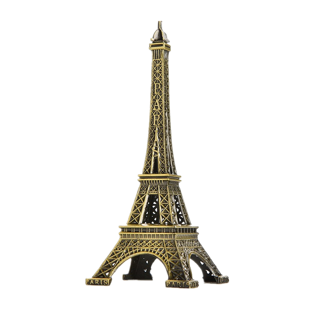 5-13cm Bronze Paris Tower Metal Crafts Figurine Statue Model Home Decor Souvenir Model kids Toys For Children 6