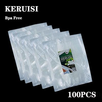 KERUISI 100PCS/LOT Vacuum Sealer Plastic Storage Bag For Vacuum Sealing Machine For Pack Food Saver Packaging Rolls Packer