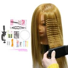 Искусственные человеческие волосы с подставкой для плетения