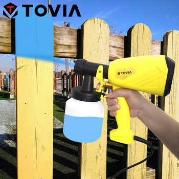 TOVIA 550W Electric Spray Gun 800ML HVLP Paint Sprayer 230V Flow Control Household Vertical Horizontal Circular Power Sprayer